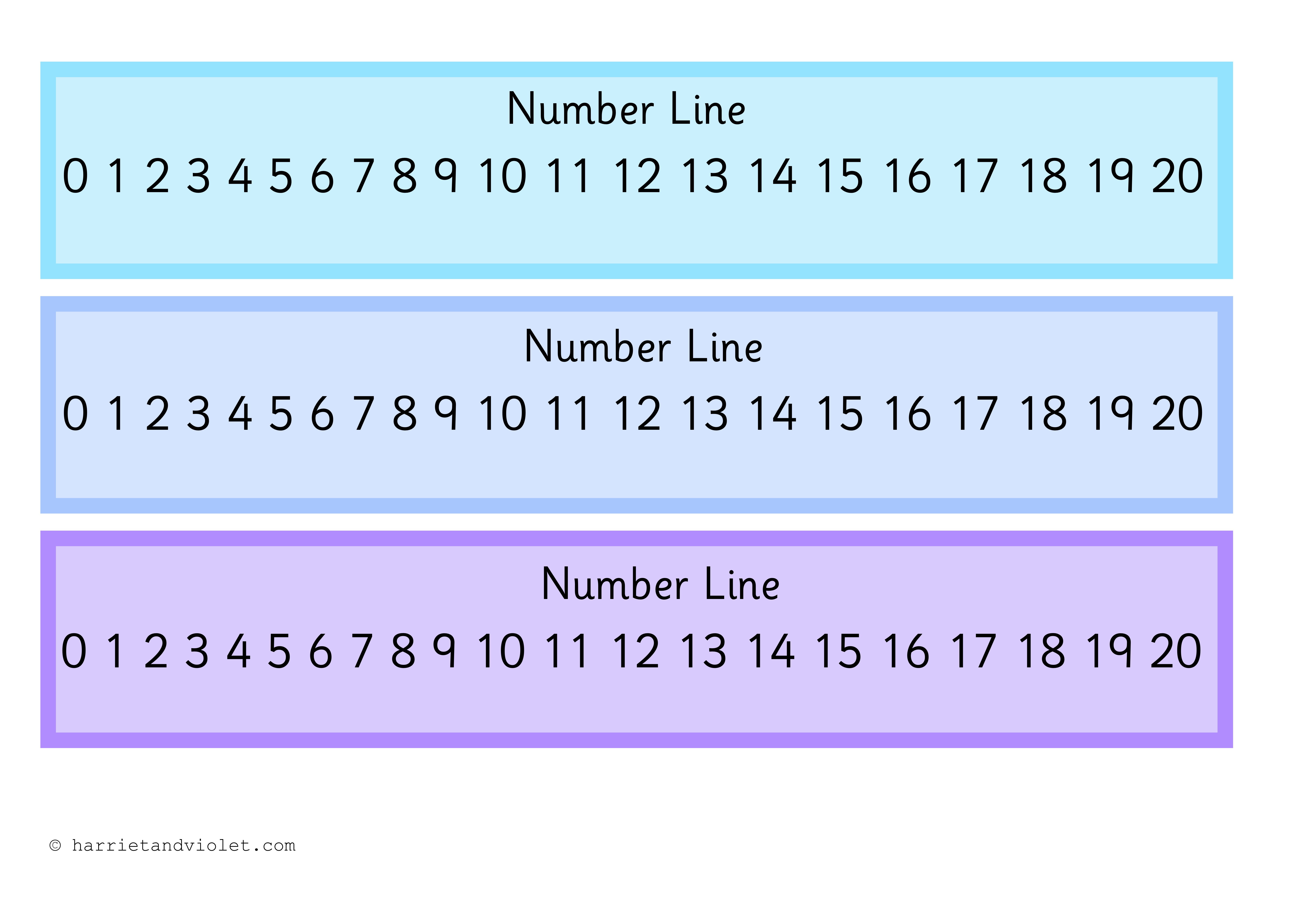 Number Line 0 20 Printable Teaching Resources Print Play Learn