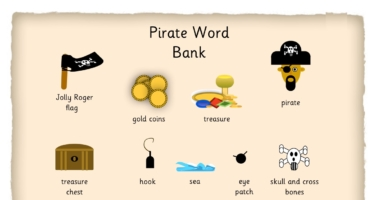 Pirate Key Words Word Mat