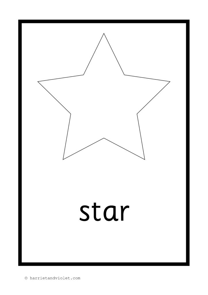 2d shape posters or flash cards in black white free teaching resources harriet violet. Black Bedroom Furniture Sets. Home Design Ideas