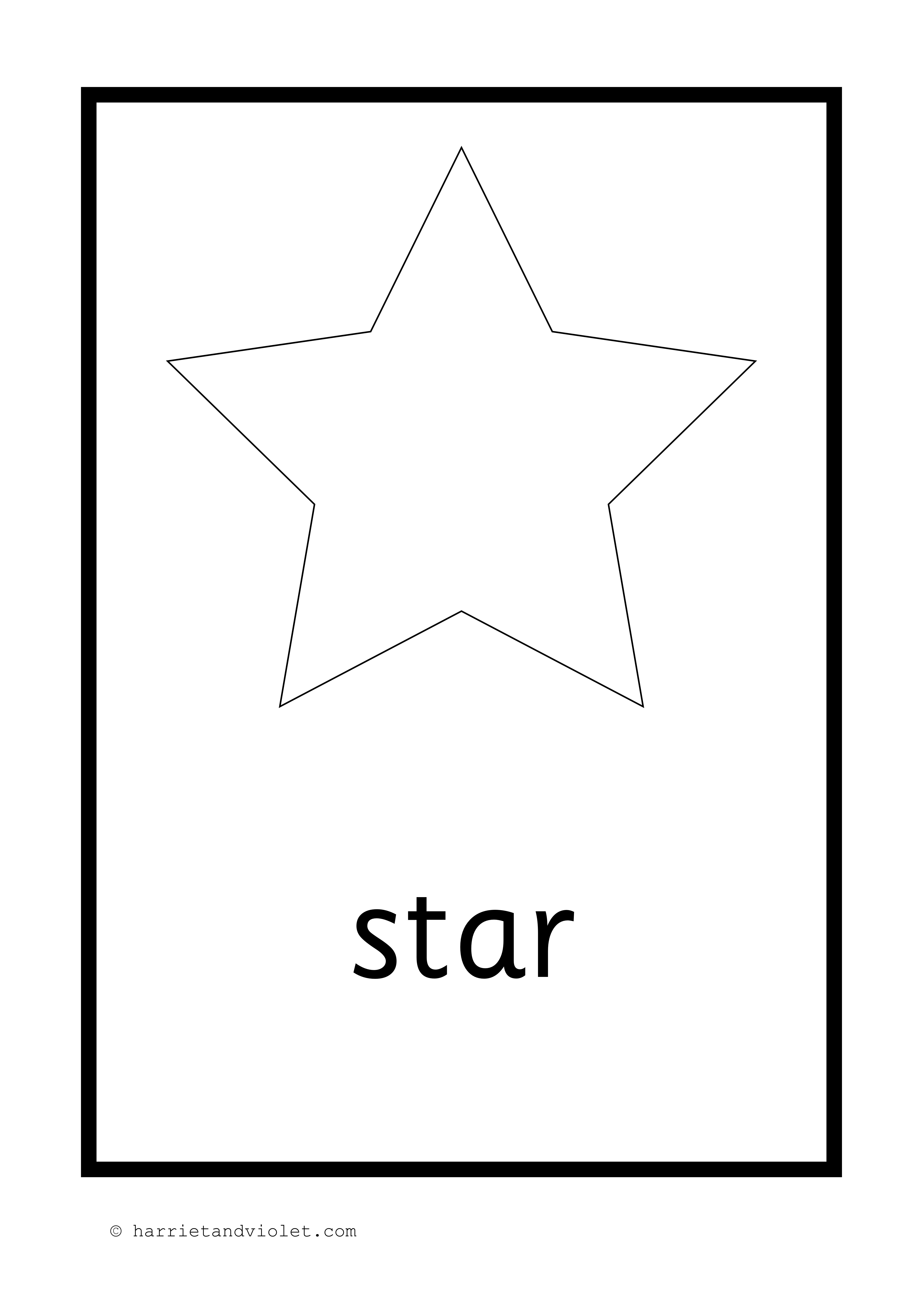 2D Shape Posters or Flash Cards in Black & White - Free ...