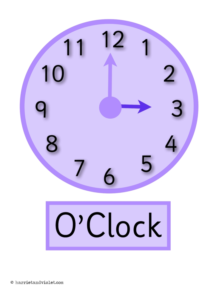 how to make a clock to help teach time