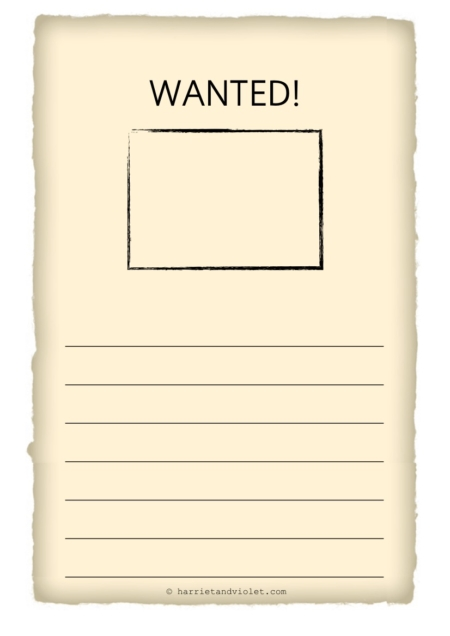 Suggestions Online – Wanted Poster Word Template