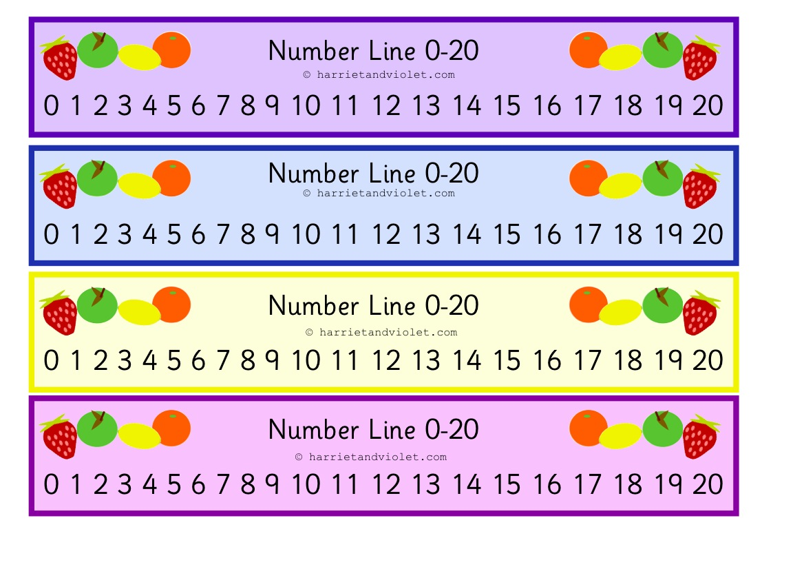 Fruit Number Line 0 to 20 - Free Teaching Resources