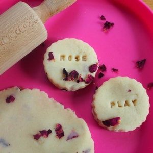 Valentine Rose Playdough  print the recipe off the website. Link in bio. Lovely sensory play dough ~ I added dried rose petals but fresh would work as well ~ I bought rose water which added to the scent