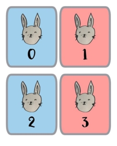 Rabbits – number cards, paper for mark making, number lines and much more.