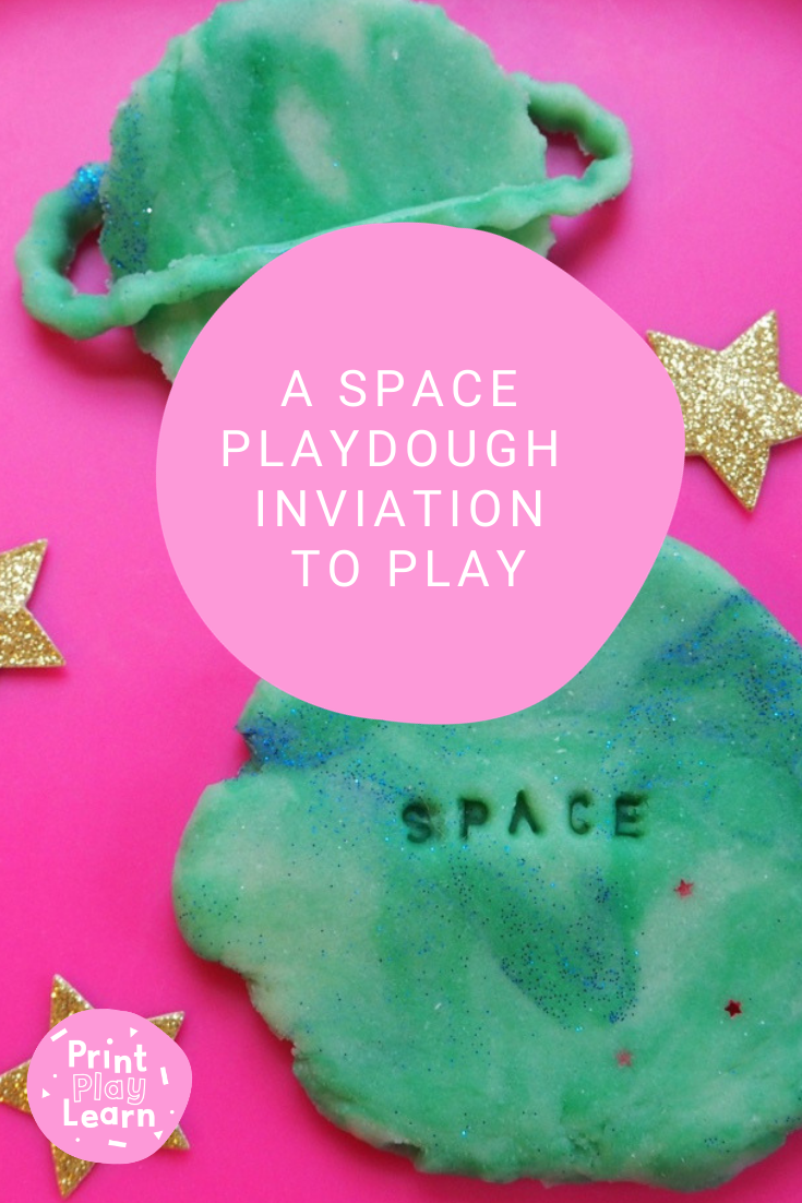 printplaylearn space themed playdough