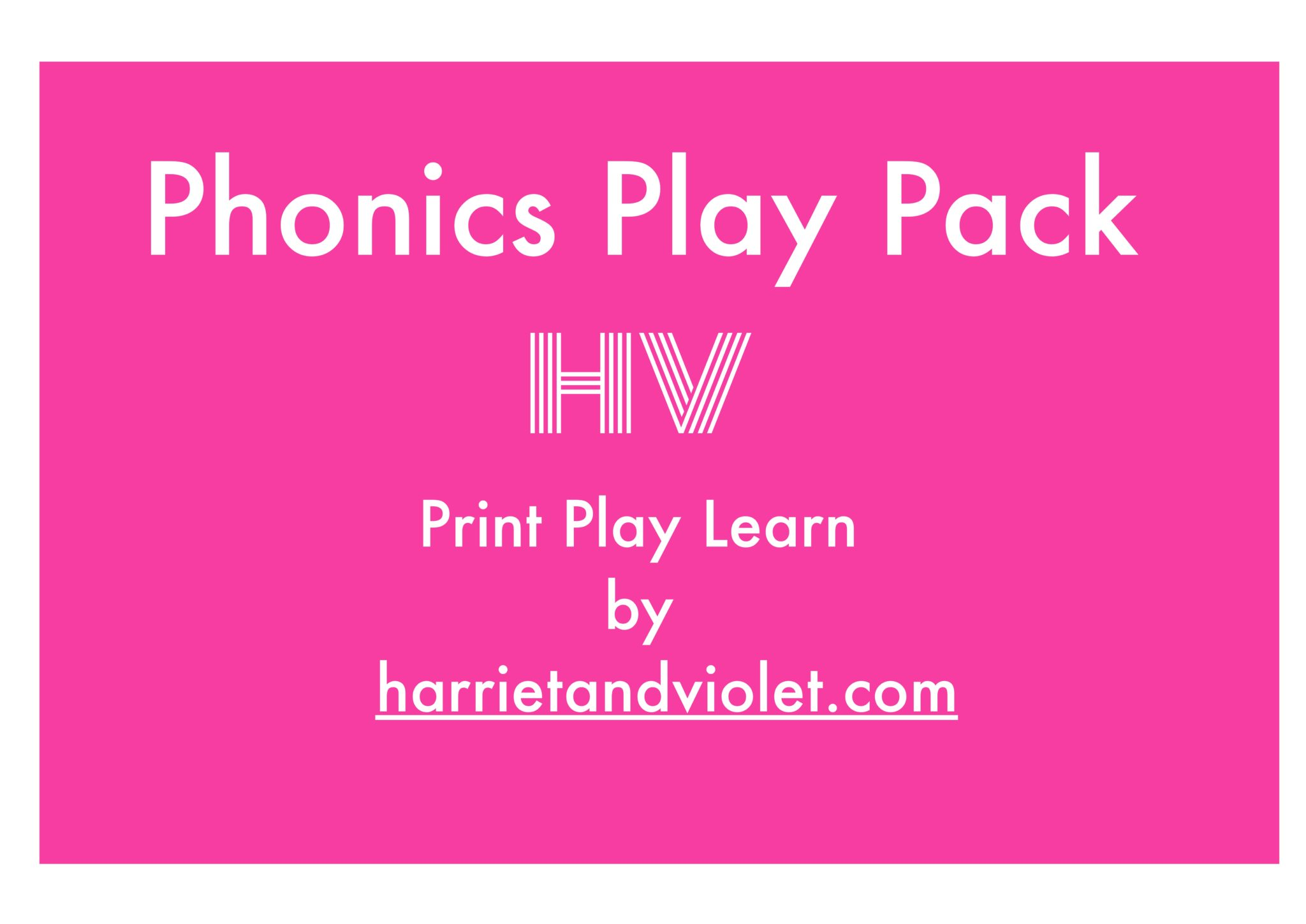 Phonics play pack front cover