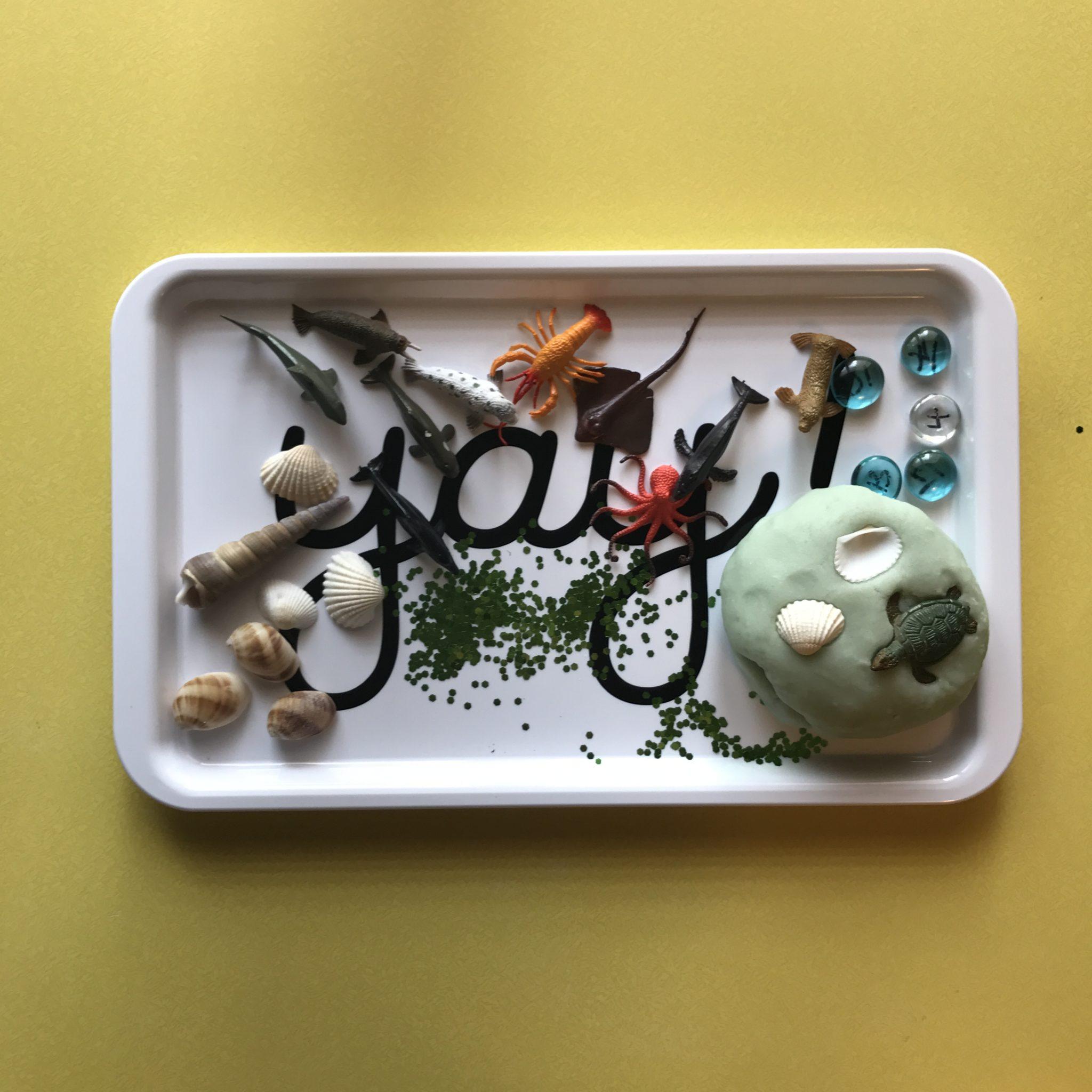 buddybear tray playdough