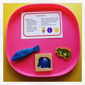 Odd One Out // Quick set up phonics activity. Begin with two different sounds and objects which one matches the one you say. Extend to odd one out, with 3 objects. Make it more challenging by using both objects and written sounds. If children aren't reading sounds then use sound buttons to replay the sound for children to hear.