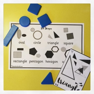 SHAPES ️️lots of printable learning resources to be downloaded from harrietandviolet.com ️️Shape mats can be used on display or during maths activities. Lots to choose from.