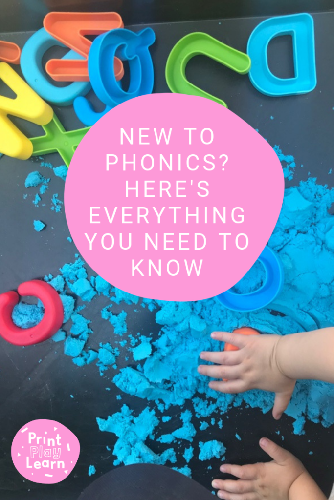 new to phonics there is everything you need to know for parents on a background of letters in sand