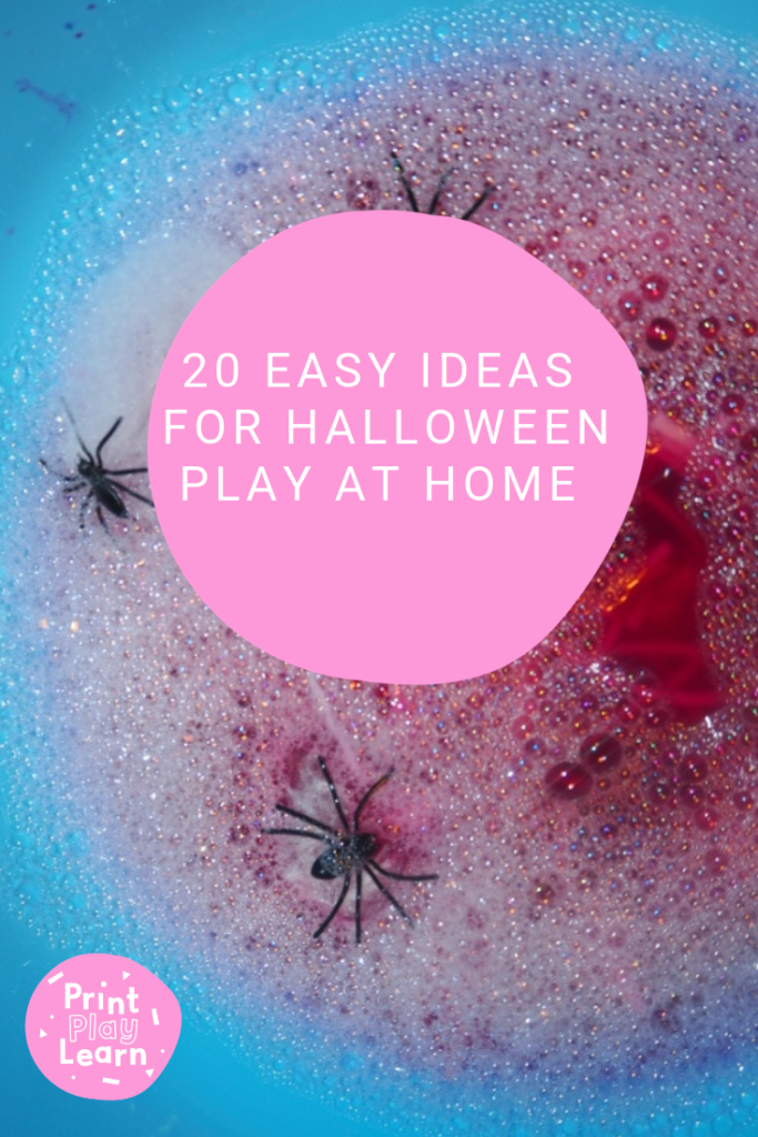 20 ideas for halloween play at home sensory play in a bubble water pink