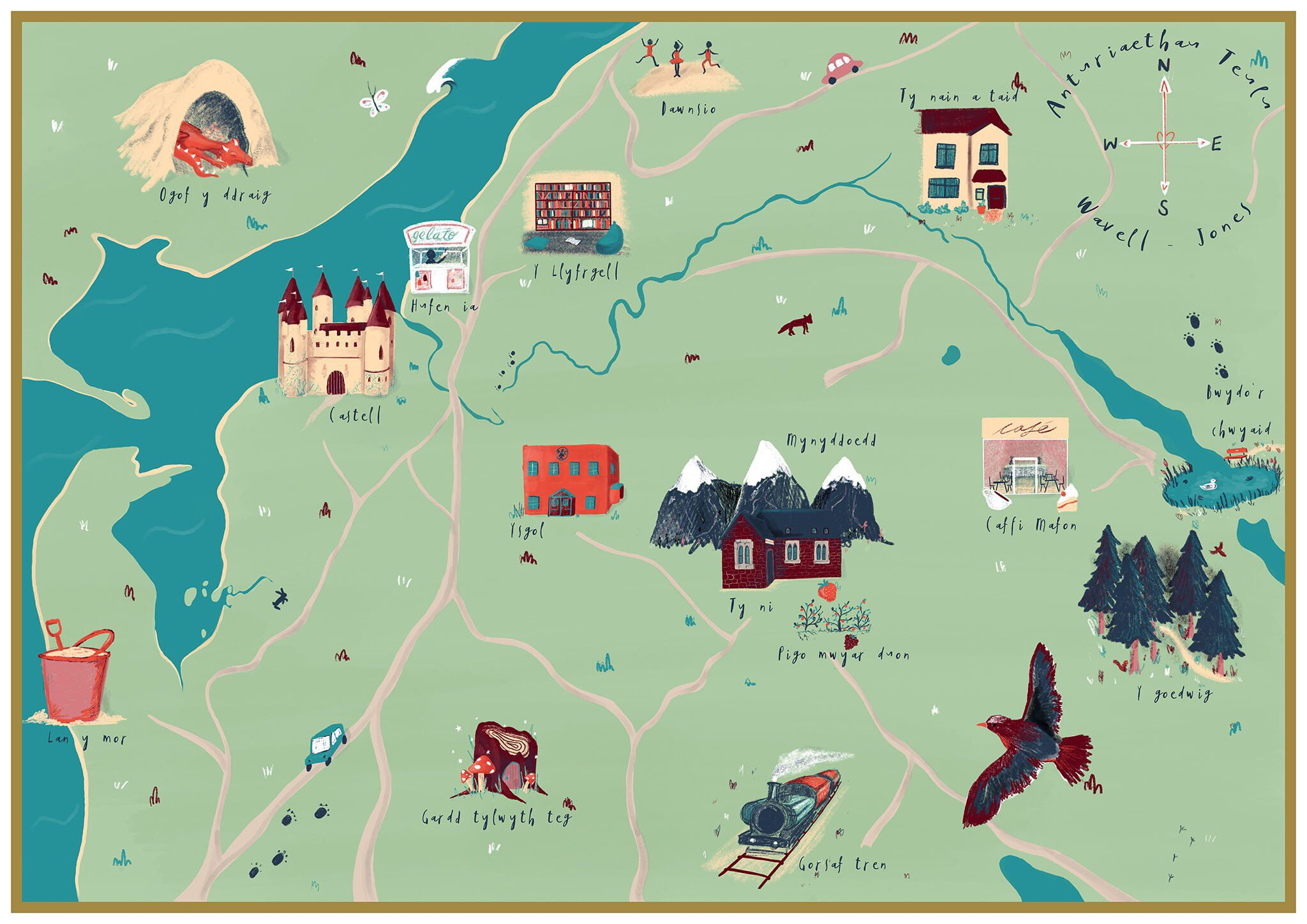 ink and tot bespoke family map