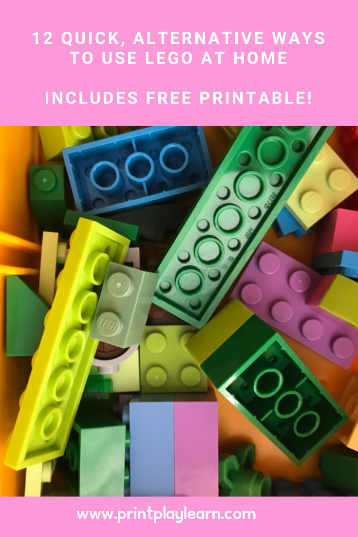 print play learn photo of lego bricks with pink block '12 alternative ways to use lego