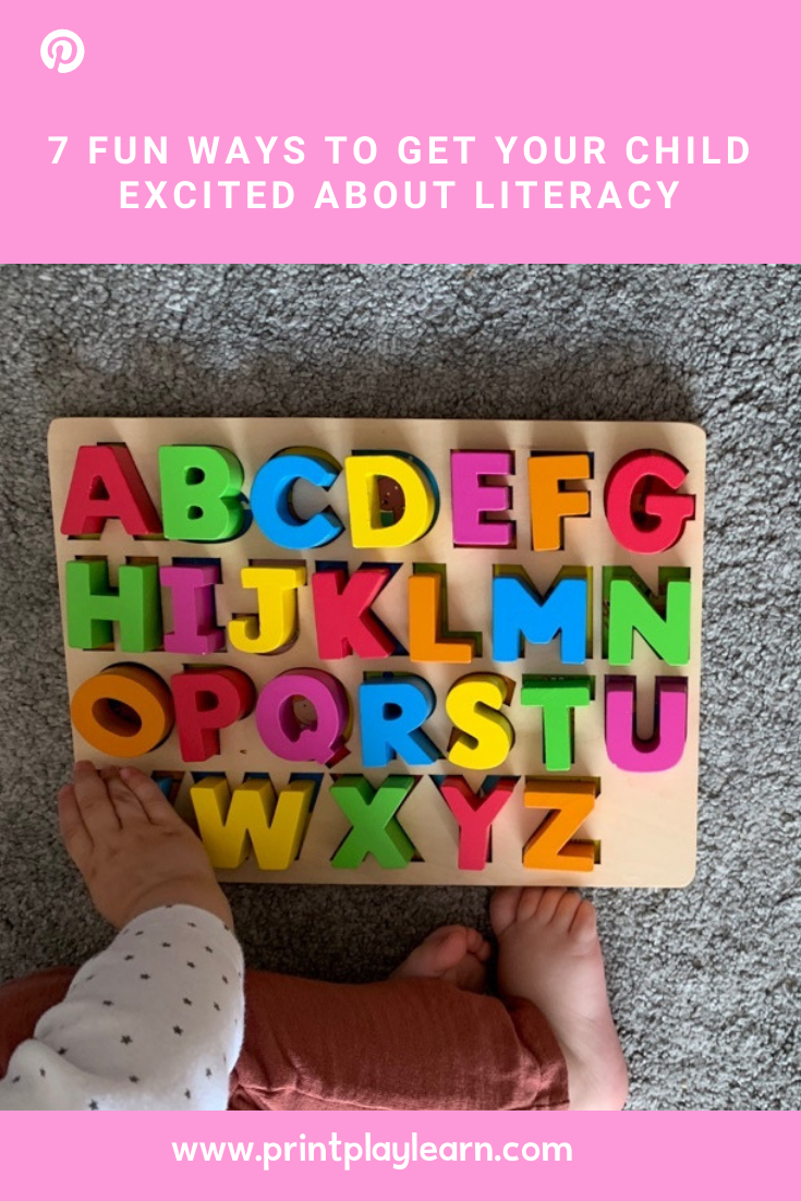 7 Fun Ways to Get Your Child Excited about Literacy printplaylearn kids activities