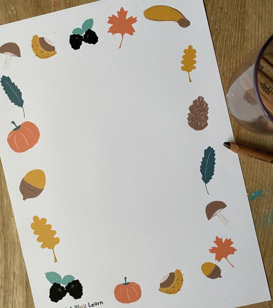 autumn paper with original illustrations print play learn