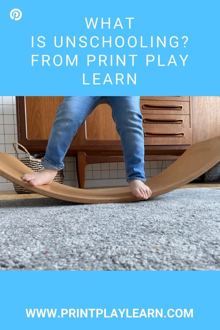 kids feet on a wobble board on a great printplaylearn