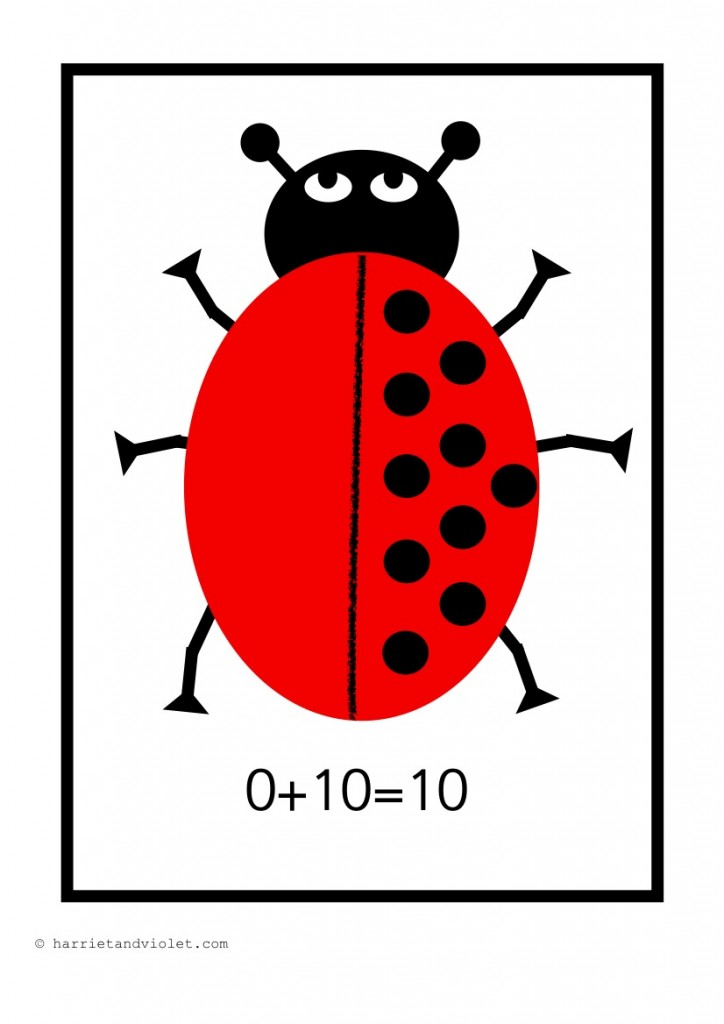 Ladybird Number Bonds to 10 with Spots and Numbers Sentence for ...