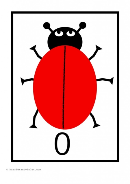 Ladybird Display Number Flashcards 0 10 on Free Transport Worksheets