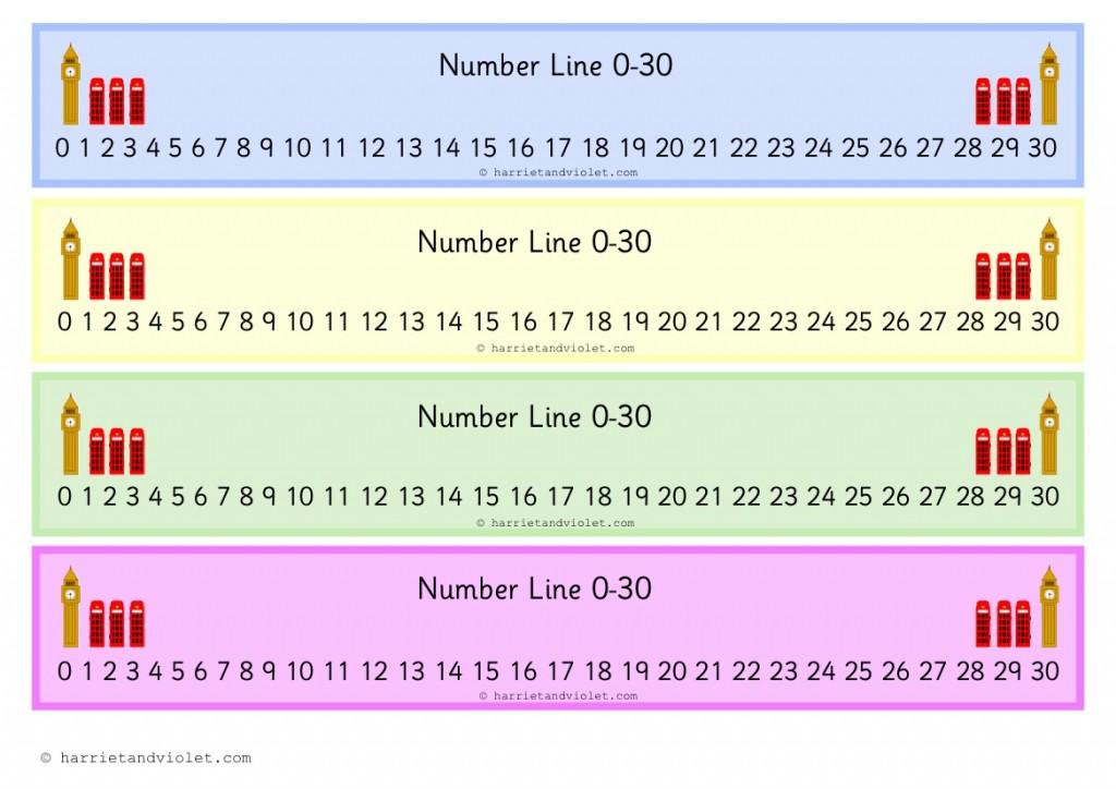 ... - London Number Line 0-30 - Harriet & Violet - Teaching Resources
