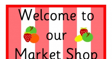 Market Shop Role Play Signs for Early Years (EYFS)