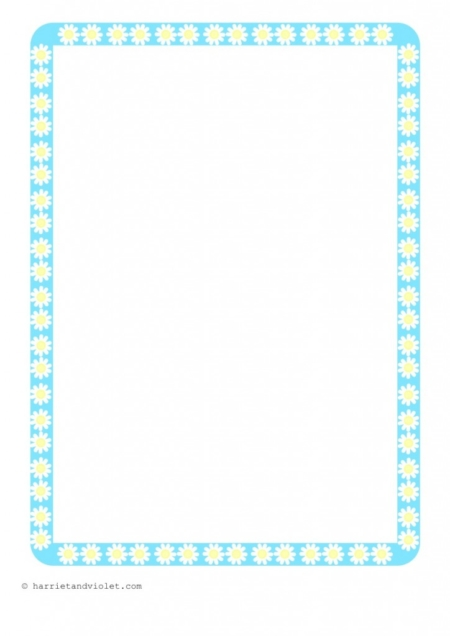 , EYFS, KS1, KS2, Primary Teachers - Pretty Daisy Flower Border Paper ...