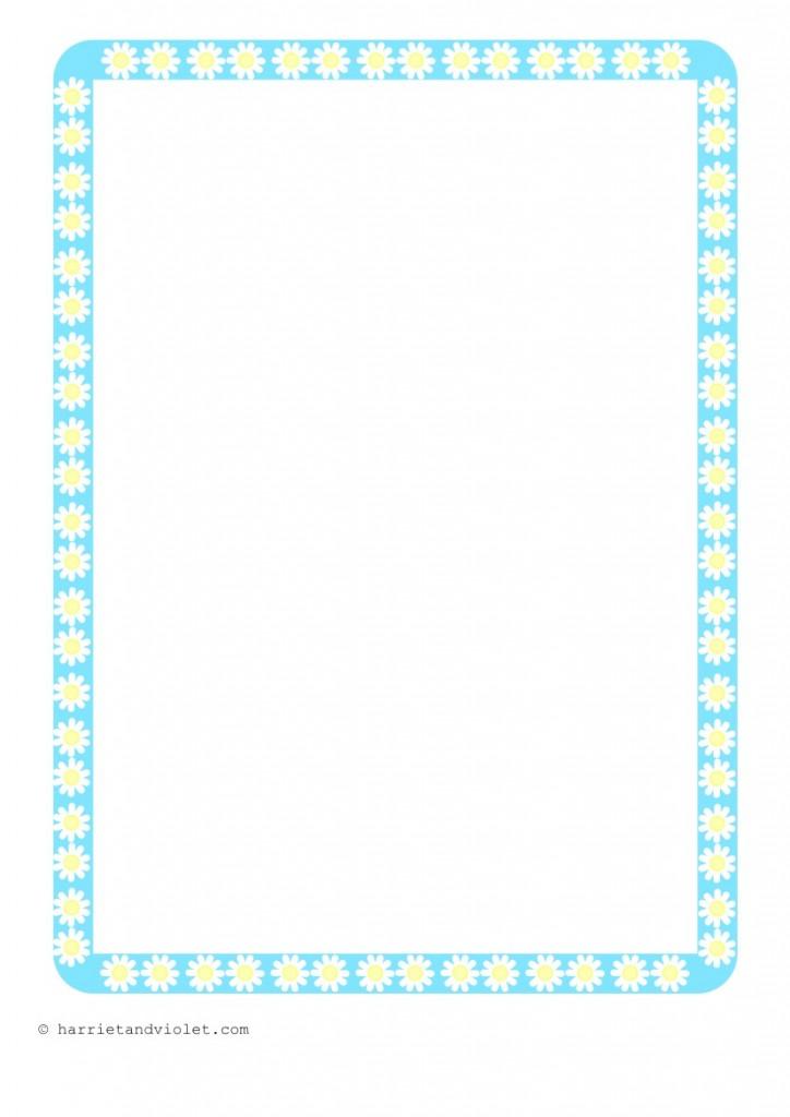 , EYFS, KS1, KS2, Primary Teachers - Pretty Daisy Flower Border Paper ...