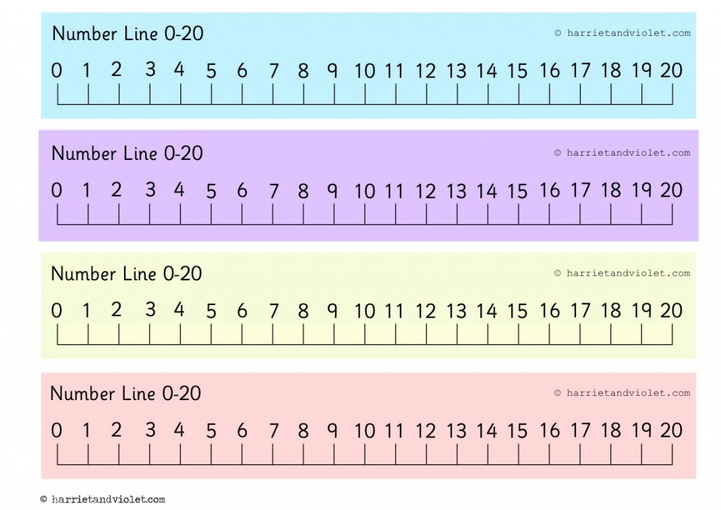 This is a picture of Persnickety Number Line to 20 Printable