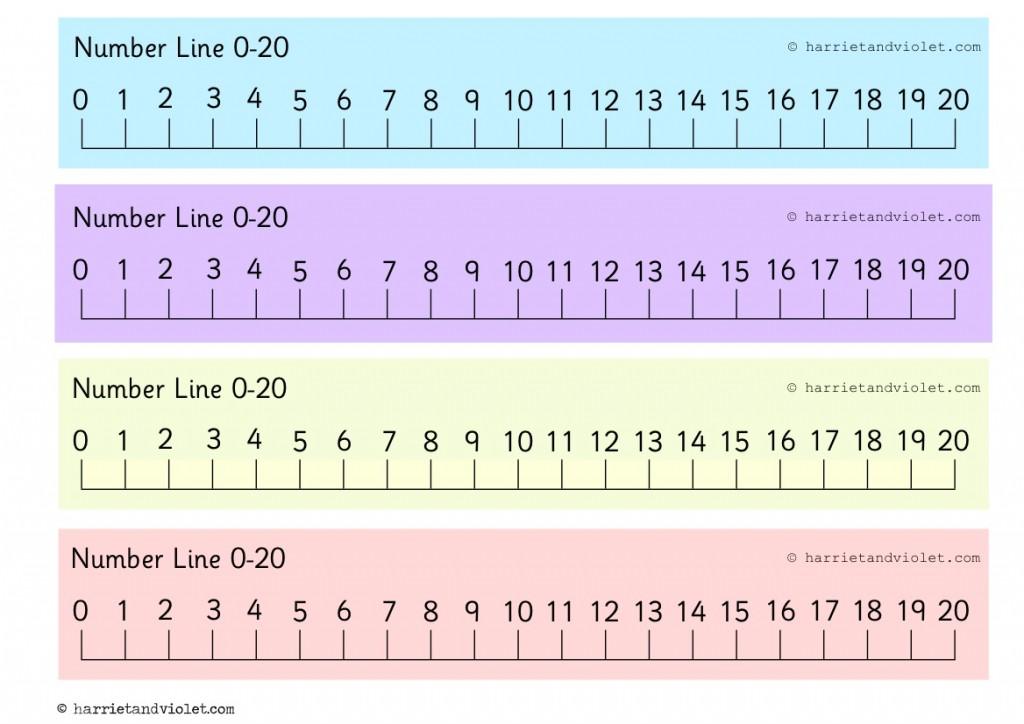 Printable Number Line 1 20