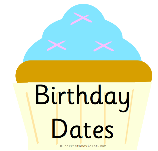 Birthday Months On Cupcakes With Candles For The Classroom