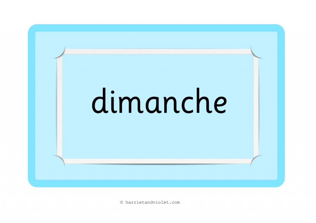 Days Of The Week In French Free Teaching Resources Print Play Learn
