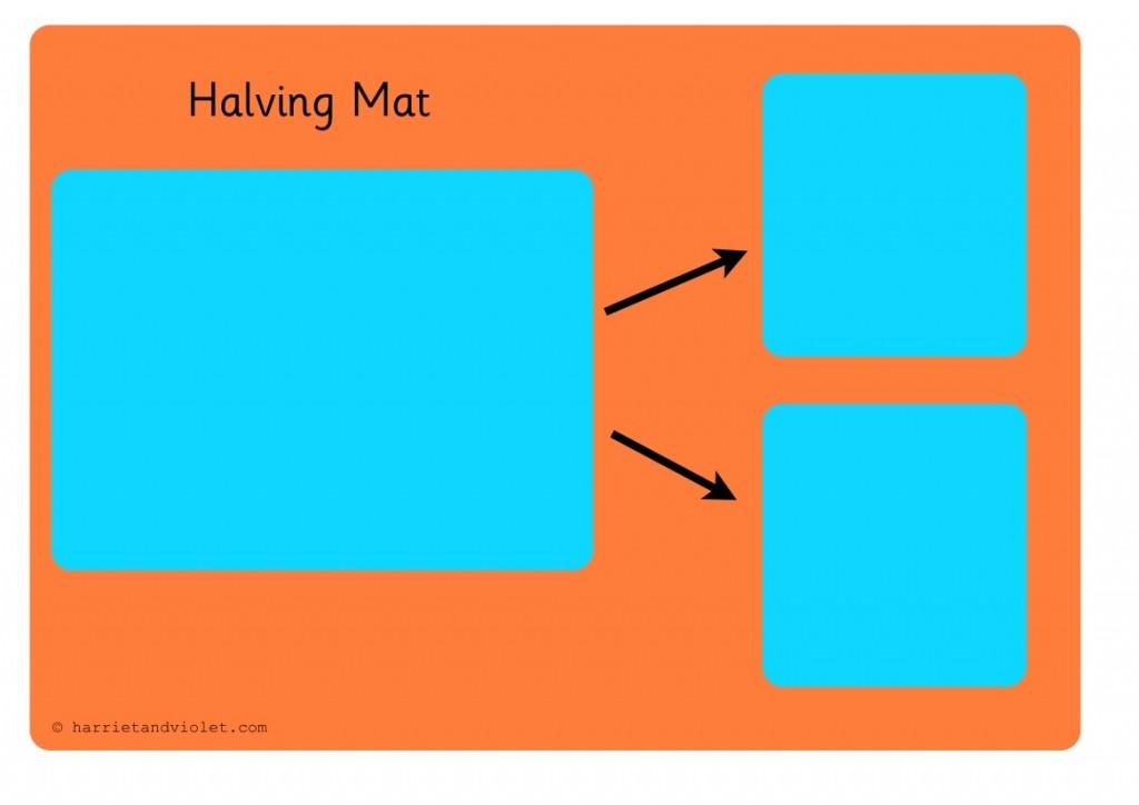 free teaching resources eyfs ks1 ks2 primary teachers maths halving mat harriet violet. Black Bedroom Furniture Sets. Home Design Ideas