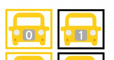 New York Taxi Number Cards Odd and Even 0-30
