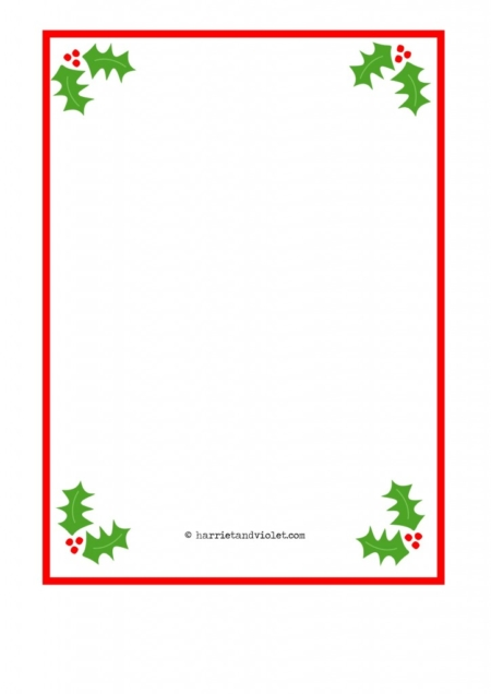 ... Paper A4 Plain Holly, Santa Hat, Fairy and Snowman - Harriet & Violet