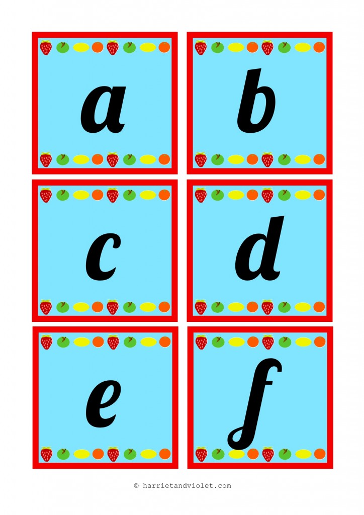 handwriting alphabet display letters
