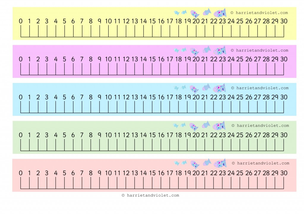 Number Line 0 30 Rainbow Fish numberline 0 to 30 HV Fish 1 jpg