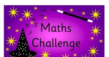 Challenge Area Maths Challenge A4 Sign