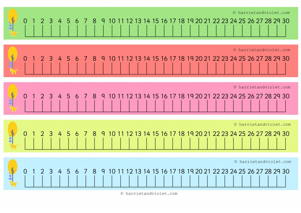 Woodland Number Line Numberline 0 30 Guidelines on Printable Number Chart 1 100