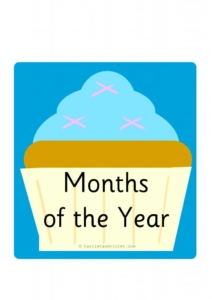 Months of the Year Cupcakes Display H&V-01