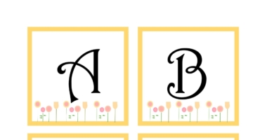 Instant display lettering A-Z- flowers