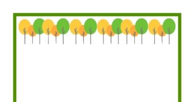 Tree border paper