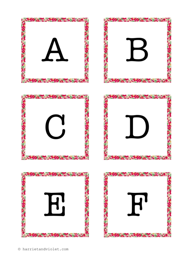 Instant display lettering fruit border a z free for Display lettering