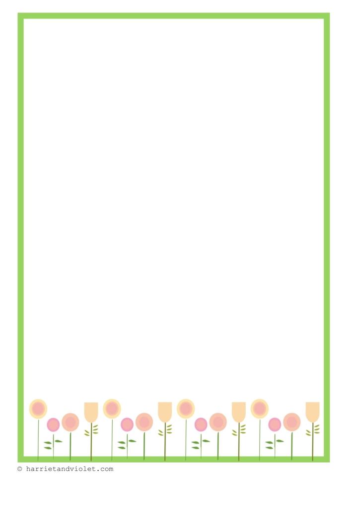 Spring flower border paper free teaching resources print play learn spring flower border paper mightylinksfo