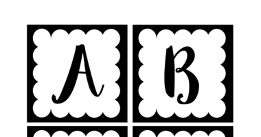 Instant Display Lettering A-Z  Black and White