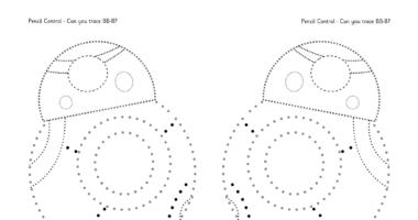 Pencil Control – Star Wars BB-8 Dot to Dot