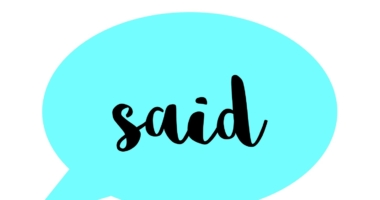 Said and other words in speech bubbles for display or flashcards