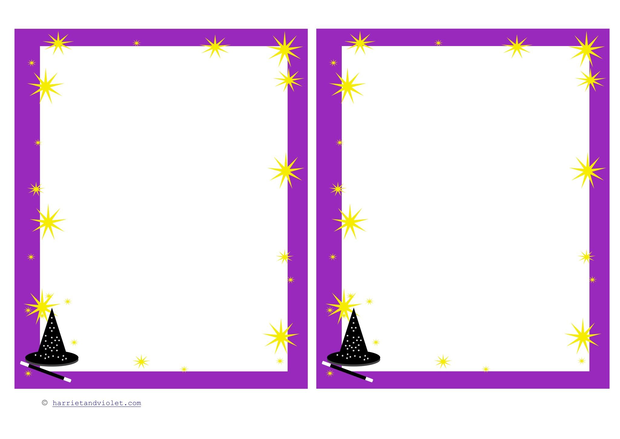 ... - Challenge Recording Sheet or Magic Border Paper - Harriet + Violet