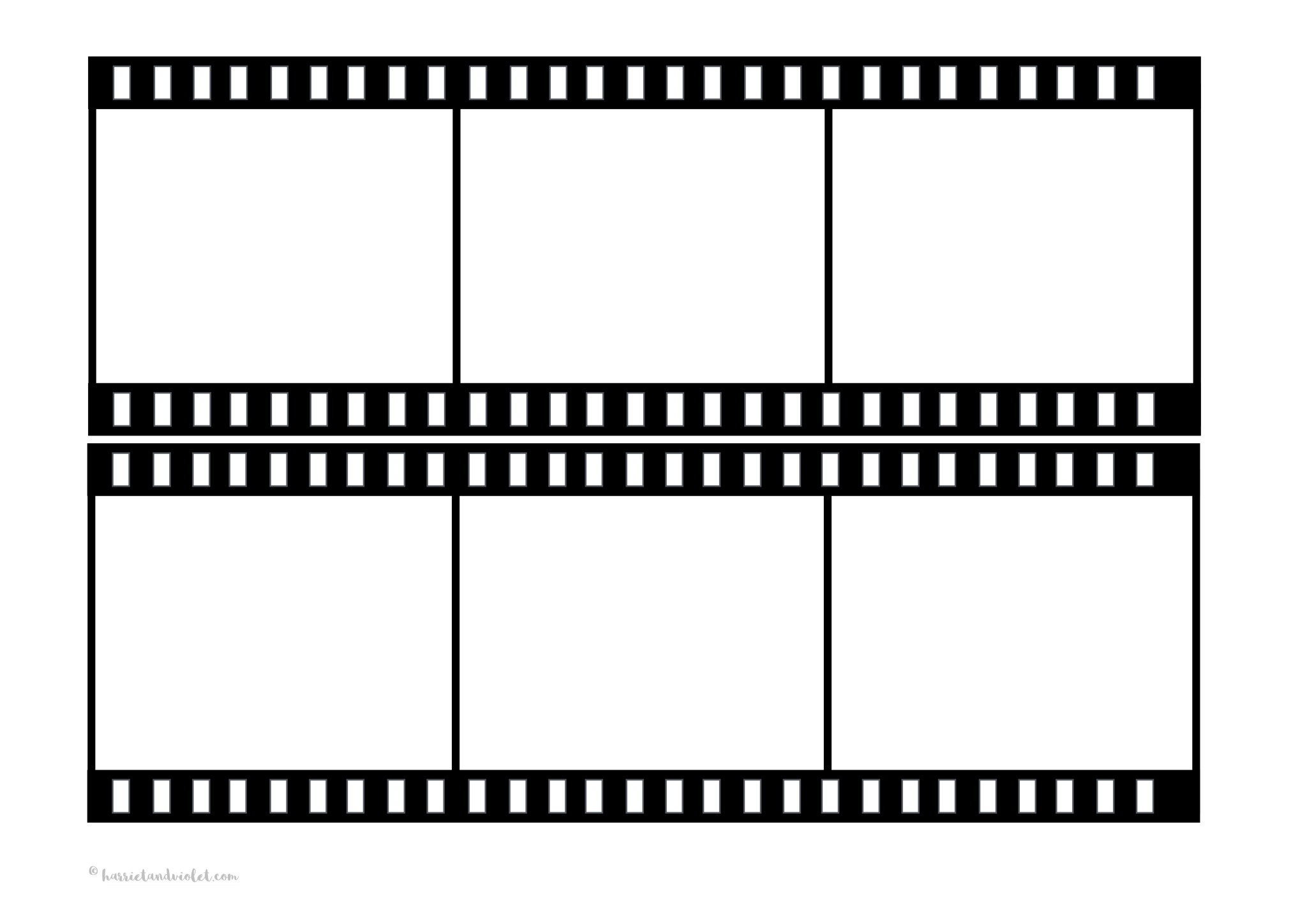 Film strip template free teaching resources harriet for Film strip picture template