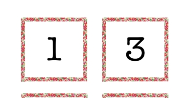 Odd Number Line for Class Display Liberty Pattern
