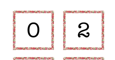 Even Number Line for Class Display Liberty Pattern